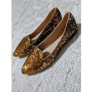 Jean-Michel Cazabat Vanity Sequin Leather Flats